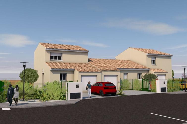 Terrain + maison à Puisserguier  34620