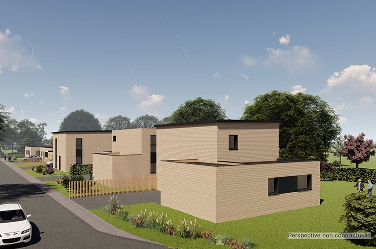 projet immobilier construction maison la chapelle saint aubert partir de m sur. Black Bedroom Furniture Sets. Home Design Ideas