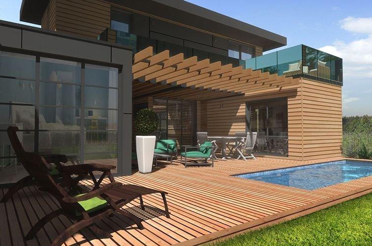 Maison modulaire bois 80 m primo extenso for Autour de sa maison