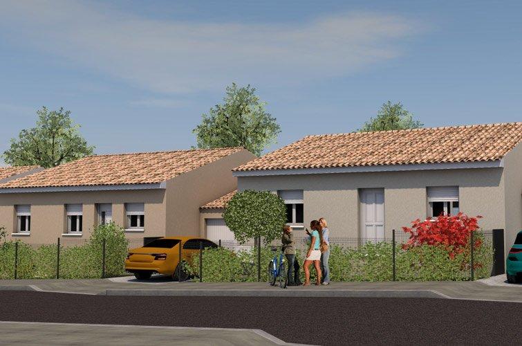 Projet immobilier construction maison b darieux h rault for Maison neuve herault