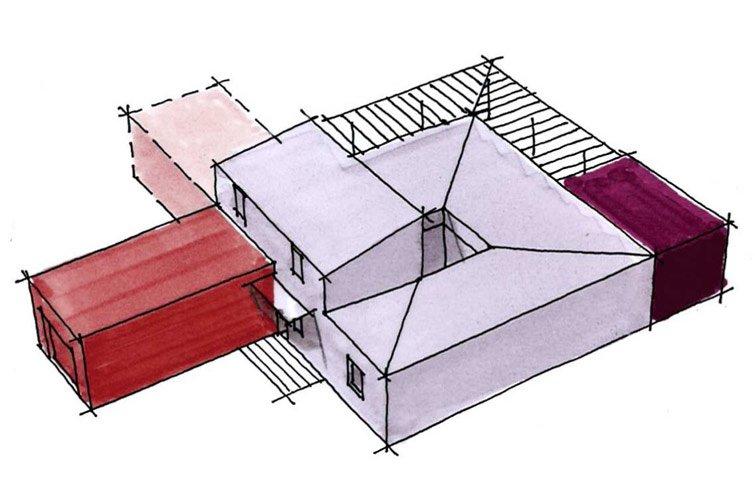 Maison A Patio maison moderne bbc de 115 m² avec patio et 3 chambres