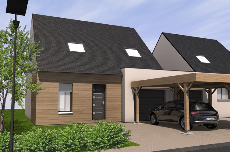 carport maison top carport maison with carport maison perfect good decoration cloture. Black Bedroom Furniture Sets. Home Design Ideas