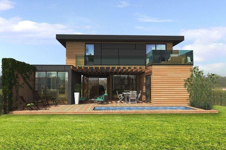 maison modulaire bois 80 m primo extenso. Black Bedroom Furniture Sets. Home Design Ideas