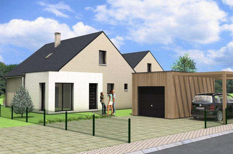 Projet immobilier construction maison chang sur terrain for Constructeur maison individuelle 72