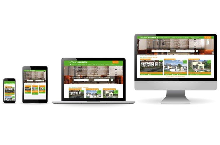 nouveau site web pour le r seau la maison abordable. Black Bedroom Furniture Sets. Home Design Ideas