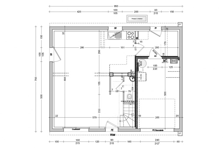 Terrain + maison à Guiler-sur-Goyen  29710