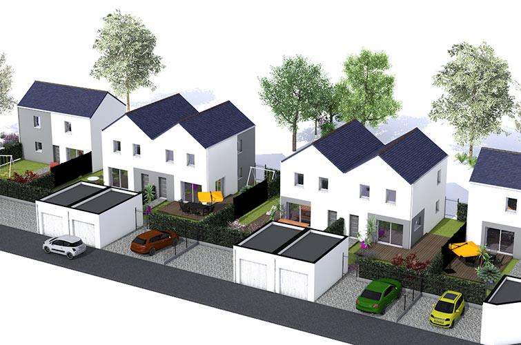Terrain + maison à Treillières  44119