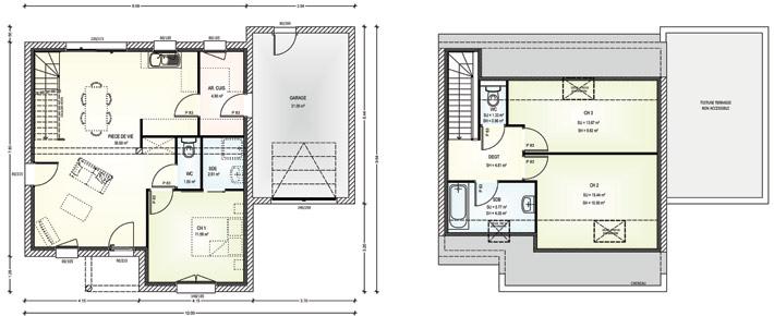 Plan De Maison Avec Combles Maison Avec Combles