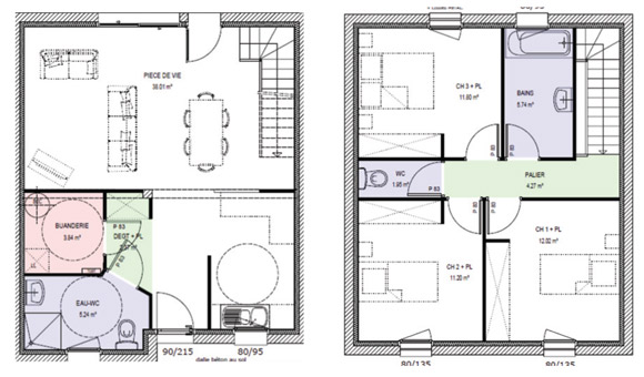 exemple plan maison individuelle for plan maison exemple